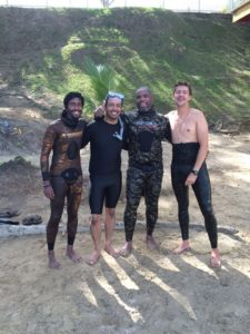 Team Trini, Kevin Ousmas, Christian Ali, Benjamin Rondel and Mathieu Leroux after a satisfying morning static sesh.