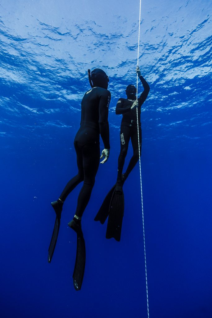 Private one on one course freediver ascending