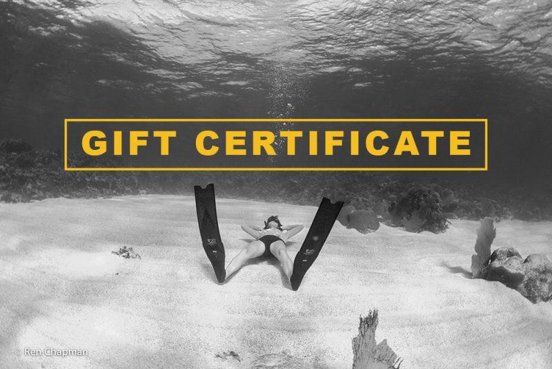 Evolve freediving gift certificate